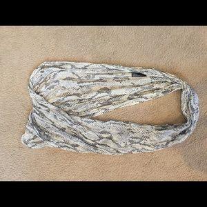 Snakeskin printed scarf